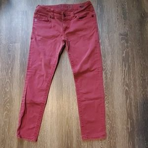 *SEVEN* Red Stretch Skinny Jeans